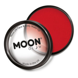 Moon Creations Pro UV Neon Ansikts- & Kroppsfärg - Röd