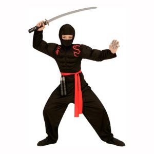 Ninja med Muskler Barn Maskeraddräkt - Medium