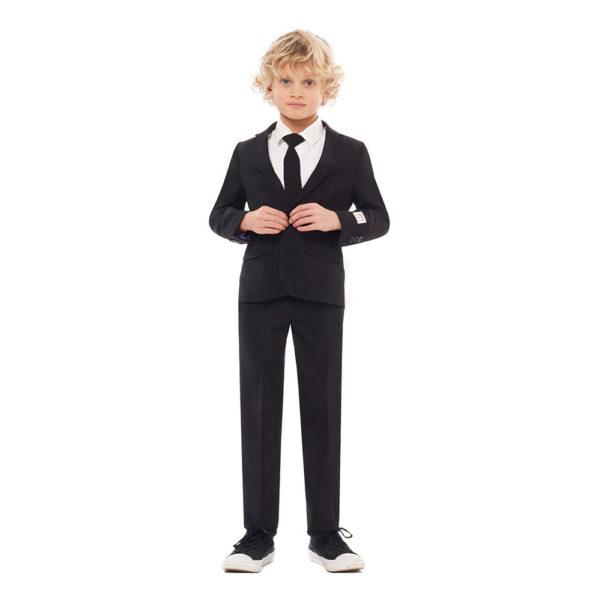 OppoSuits Boys Svart Kostym - 110/116