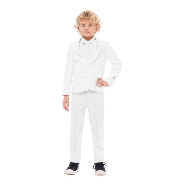 OppoSuits Boys Vit Kostym - 110/116
