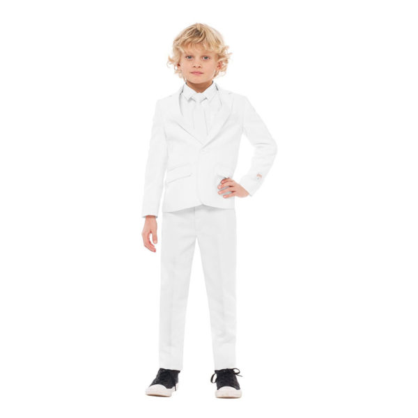 OppoSuits Boys Vit Kostym - 122/128
