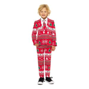 OppoSuits Boys Winter Wonderland Kostym - 122/128