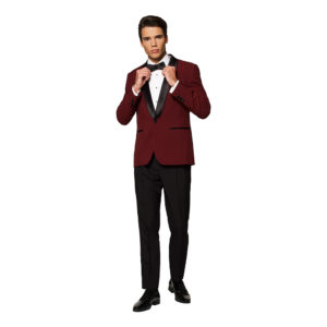 OppoSuits Hot Burgundy Smoking - 50