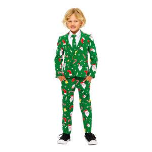 OppoSuits Santaboss Boys Kostym - 122/128
