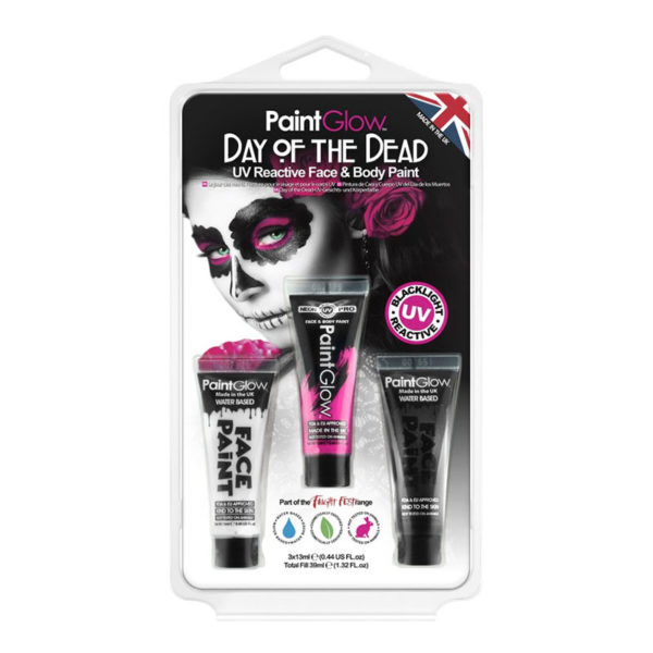 PaintGlow UV Day of the Dead Hudfärg Kit