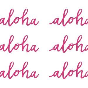 Pappersdekoration Rosa Aloha 6-pack