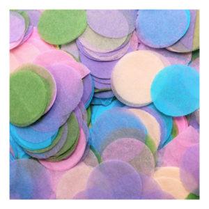 Papperskonfetti Runda Pastell