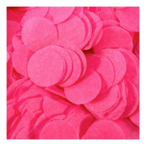 Papperskonfetti Runda Rosa - 100 gram