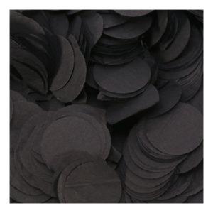 Papperskonfetti Runda Svart - 100 gram