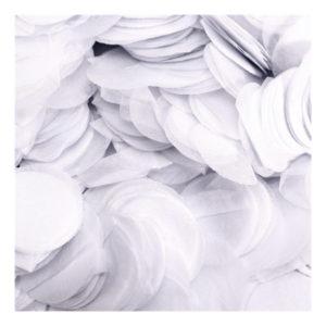 Papperskonfetti Runda Vit - 100 gram