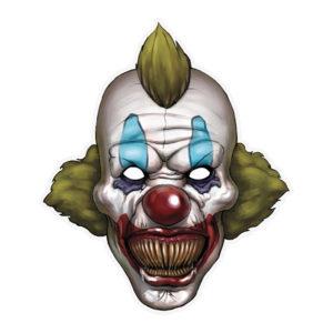 Pappersmask Läskig Clown