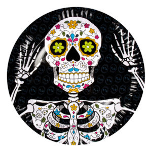 Papperstallrikar Dia de Los Muertos - 6-pack
