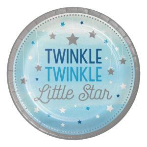 Papperstallrikar Little Star Pojke - 8-pack