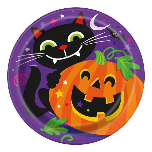 Papperstallrikar Pumpa Halloween - 8-pack