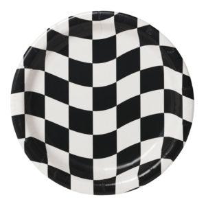 Papperstallrikar Racing Stripes - 8-pack