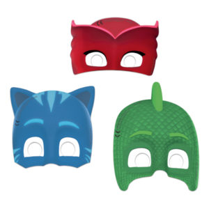 Pappmasker Pyjamashjältarna - 6-pack