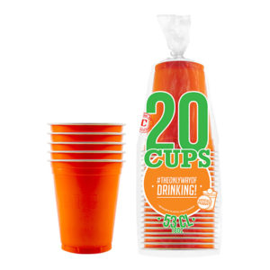 Partycups Orange - 20-pack