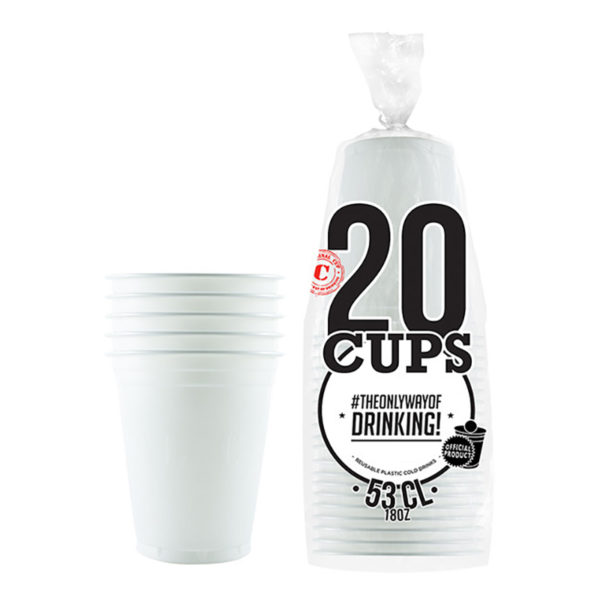 Partycups Vit - 20-pack