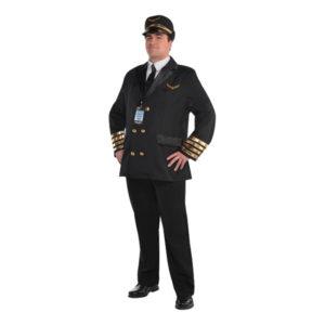 Pilot Klassisk Maskeraddräkt - Plus size