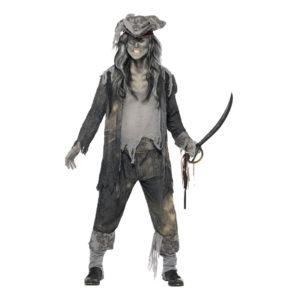 Pirat Halloween Maskeraddräkt - Medium