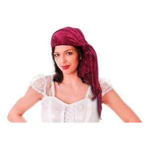 Piratbandana Röd Sammet - One size