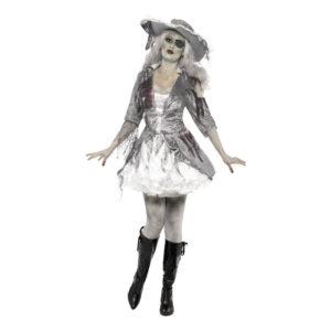 Piratdam Halloween Maskeraddräkt - Large