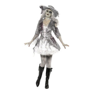 Piratdam Halloween Maskeraddräkt - Medium