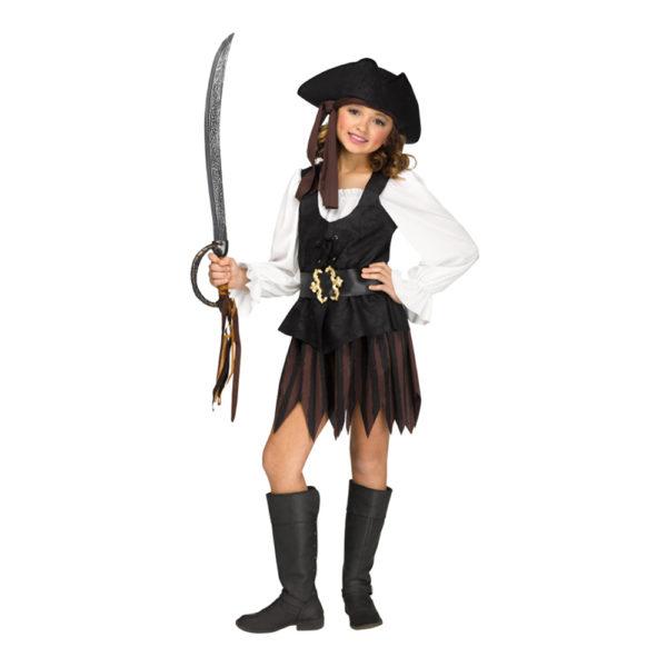 Piratklänning Rustik Barn Maskeraddräkt - Medium