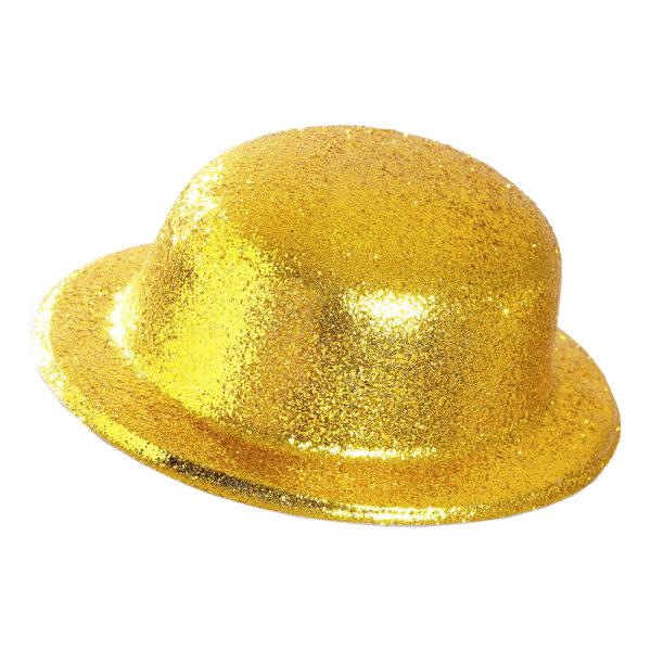 Plommonstop Glitter Guld Hatt - One size