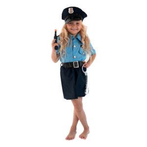 Polisofficer Flicka Barn Maskeraddräkt - X-Large