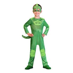 Pyjamashjältarna Gecko Barn Maskeraddräkt - X-Small