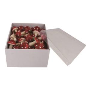 Röda Svampar för Dekoration - 1-pack
