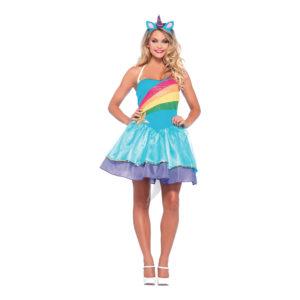 Rainbow Unicorn Maskeraddräkt - Medium/Large