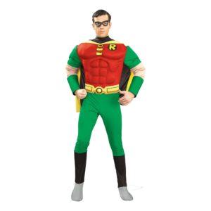 Robin med Muskler Maskeraddräkt - Large
