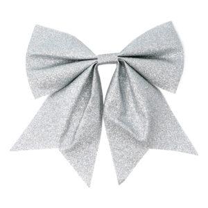Rosett Glittrig Silver - 20 cm