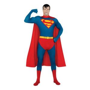 Second Skin Superman Maskeraddräkt - Large