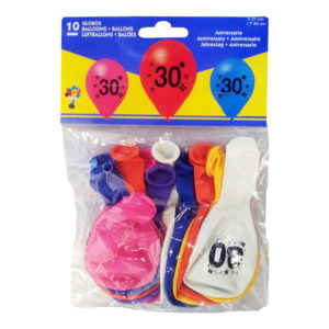 Sifferballong Latex 30 - 10-pack
