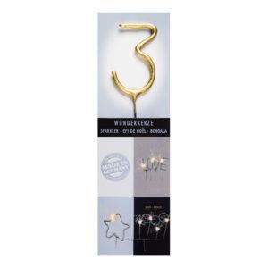 Sifferbloss Guld - Siffra 3