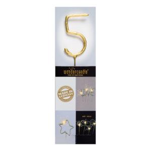 Sifferbloss Guld - Siffra 5