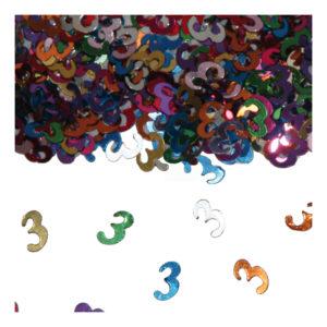 Sifferkonfetti - Siffra 3