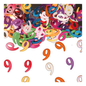Sifferkonfetti - Siffra 9