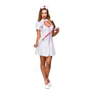 Sjuksköterska Klänning Maskeraddräkt - X-Large