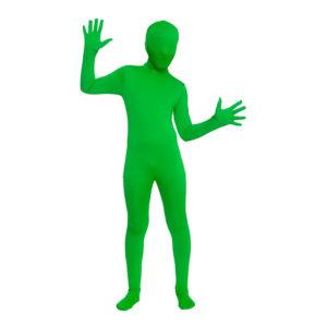 Skinz Grön Barn Maskeraddräkt - X-Large
