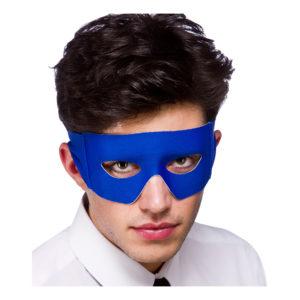 Skurk/Superhjäte Blå Ögonmask - Blå