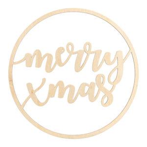 Skylt i Trä Merry Xmas