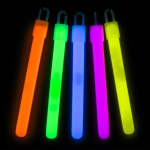 Slim Glowstick Halsband - Orange