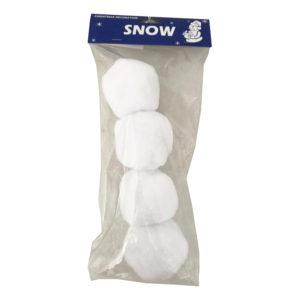 Snöbollar Julgranshänge - 4-pack