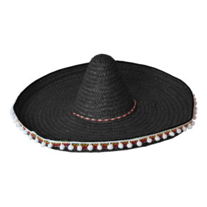 Sombrero Svart Hatt - One size