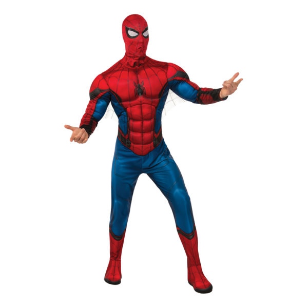 Spider-Man med Muskler Deluxe Maskeraddräkt - X-Large