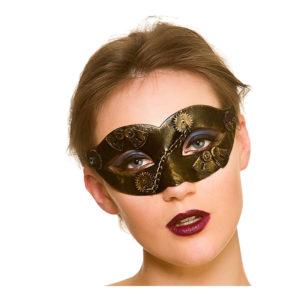 Steampunk Ögonmask med Kedja - One size